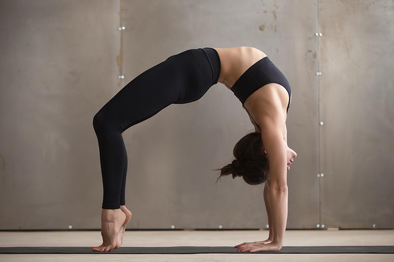 поза моста фото йога